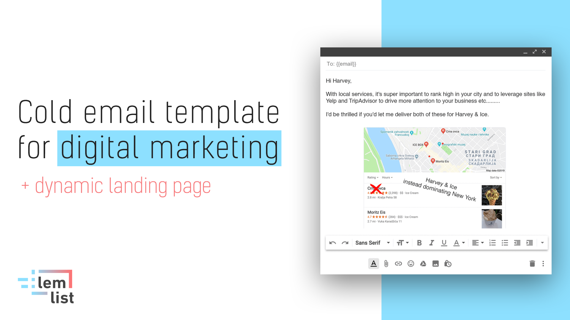Cold email template digital marketing