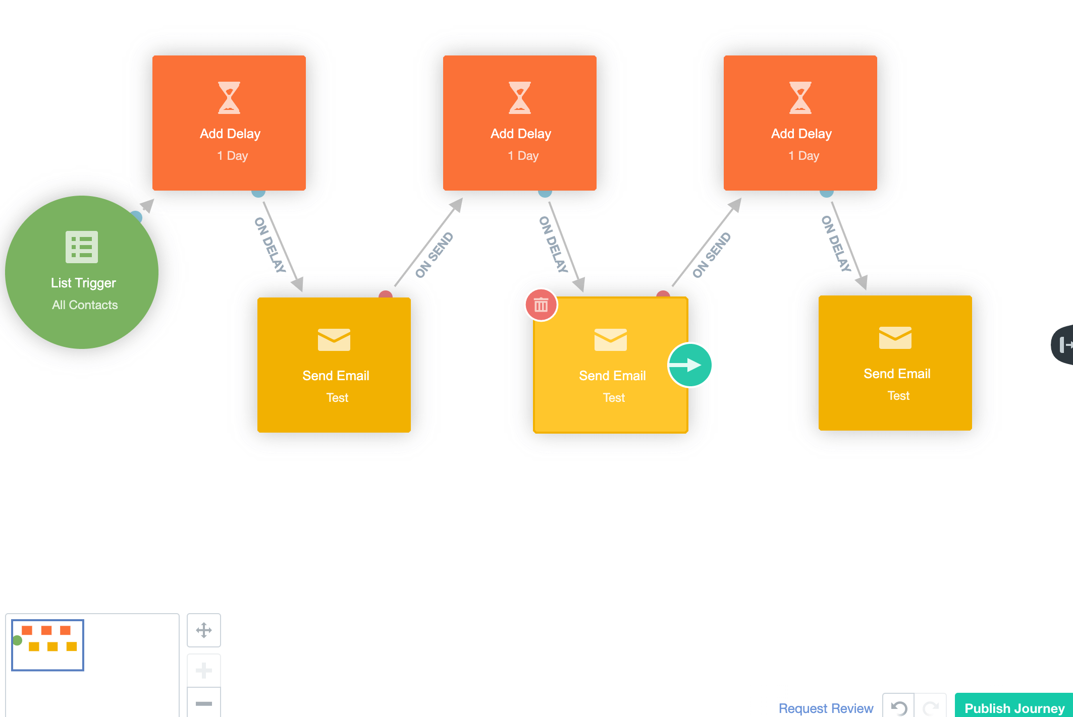 AutopilotHQ Pipedrive email automation workflow
