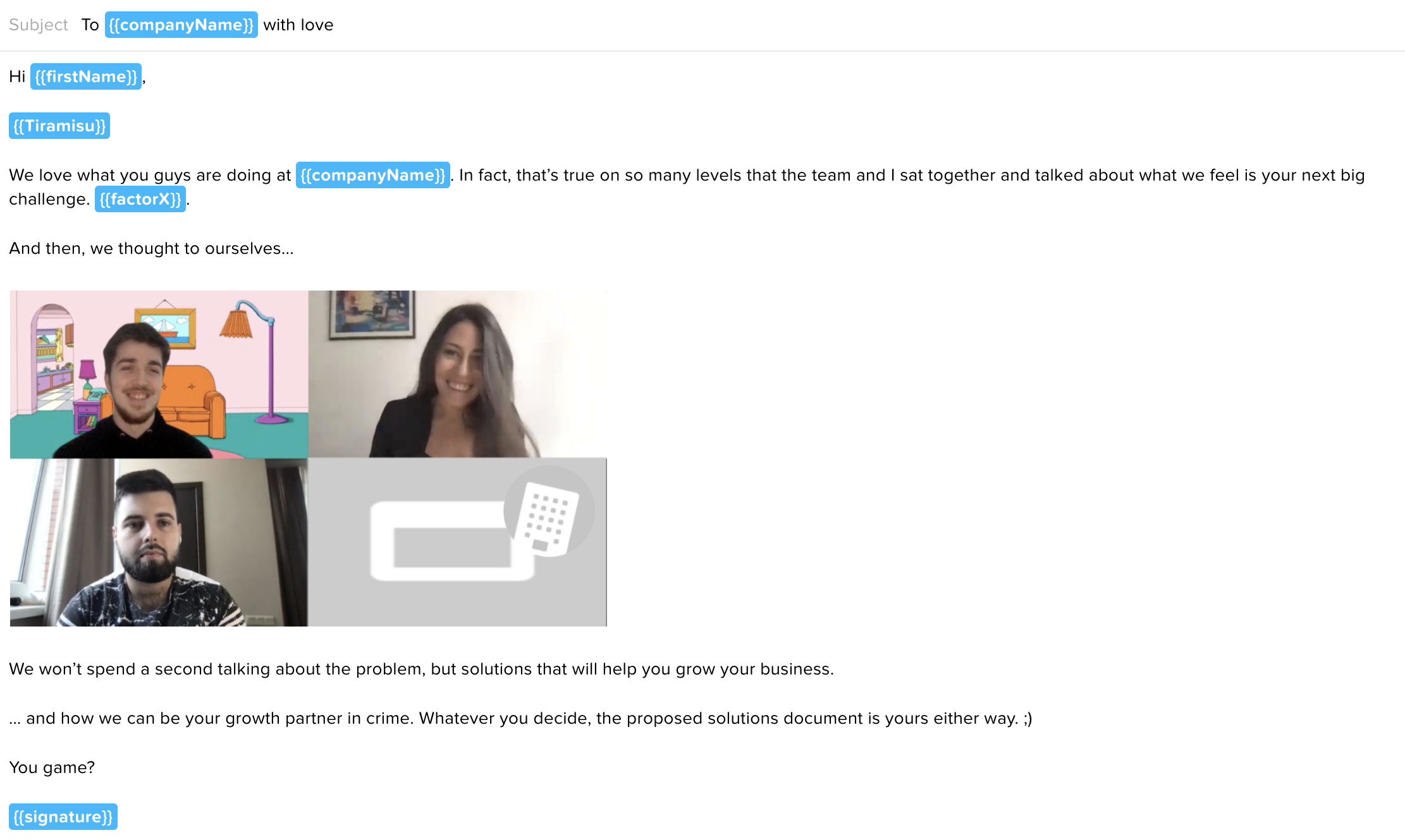 zoom email template