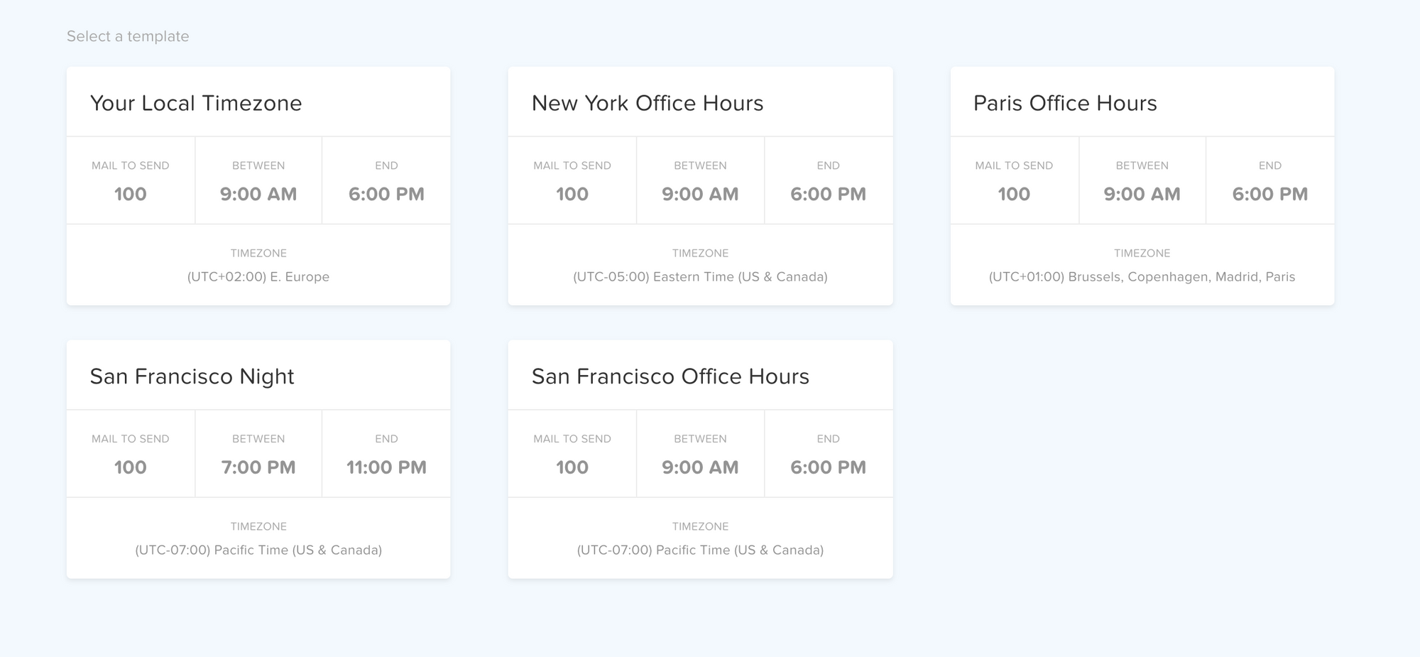 Cold email schedule
