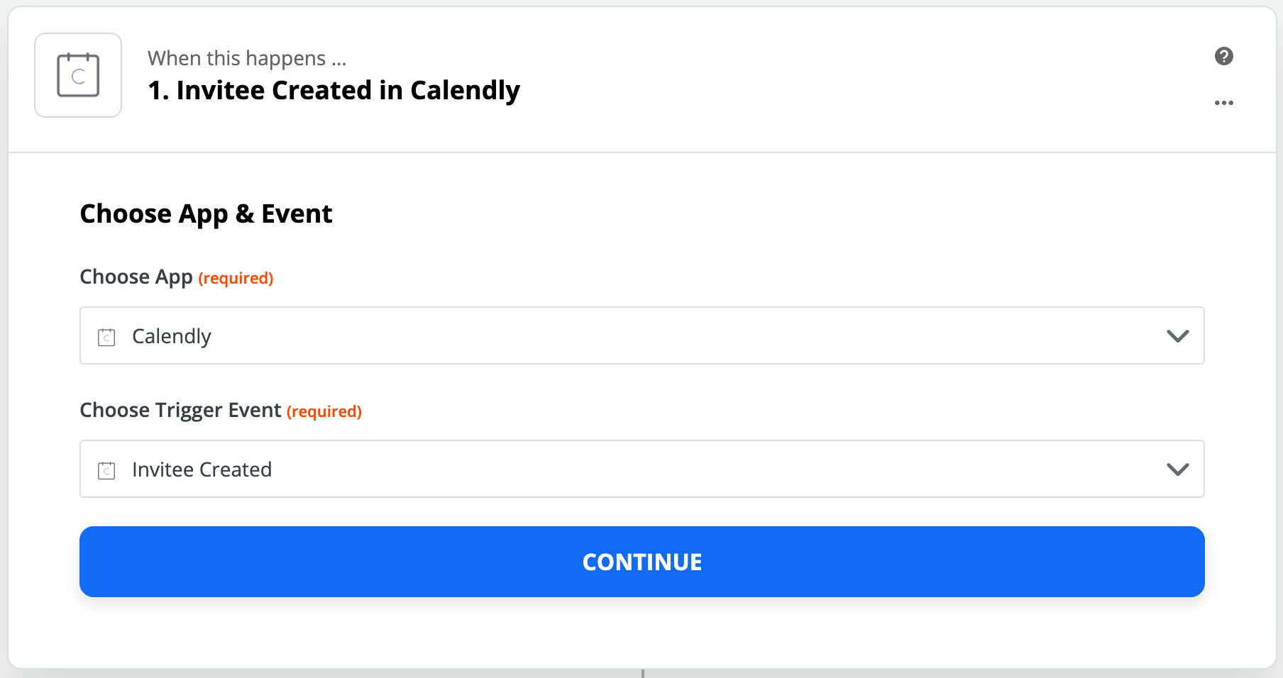 Calaneldy integration with Zapier