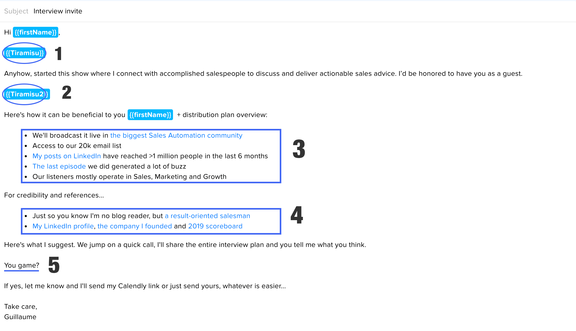 Cold email template that gets responses