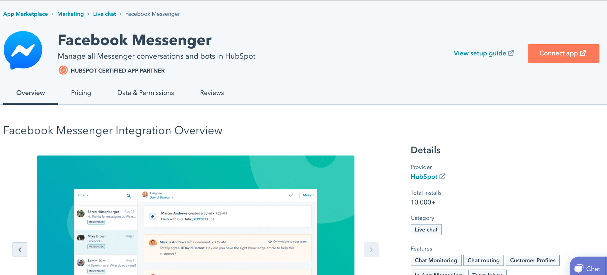 FB integration with Hubspot CRM