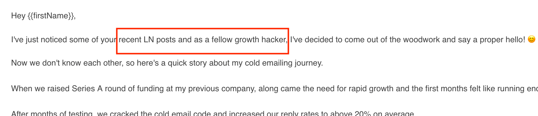 How to write an intro line in cold email