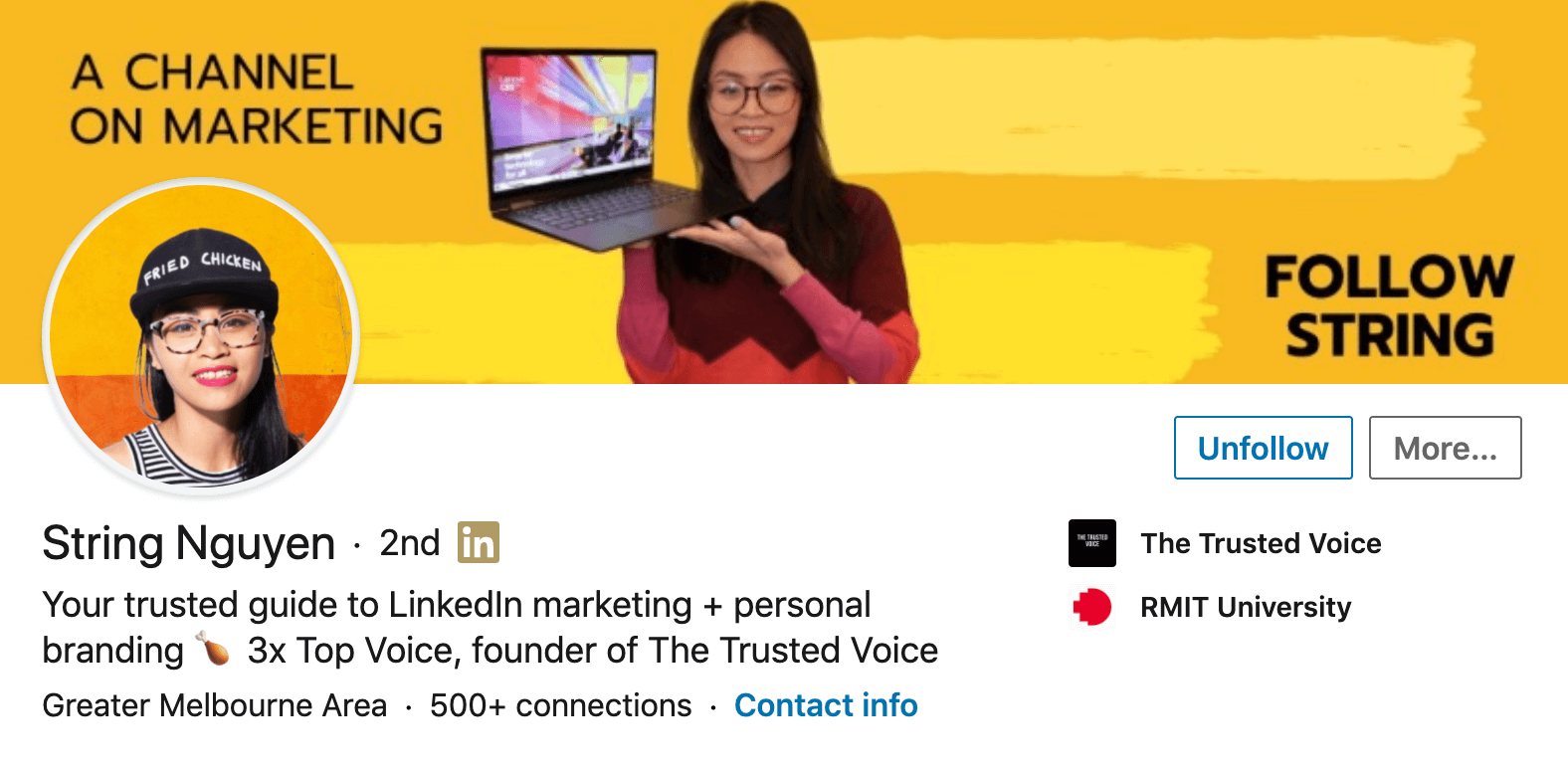 LinkedIn profile best example