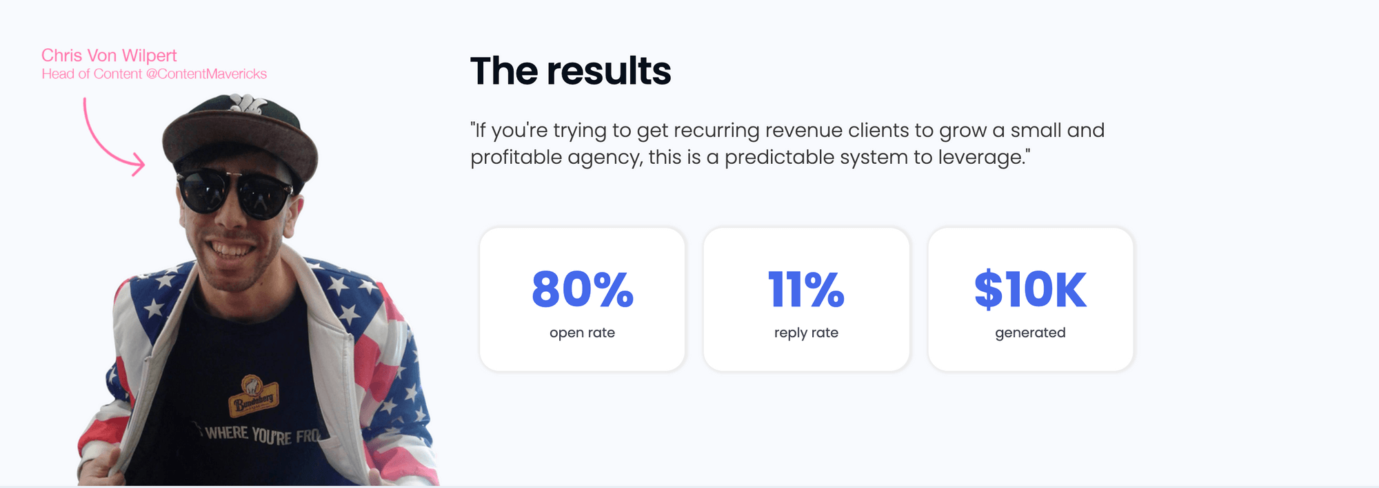 Sales email campaign results