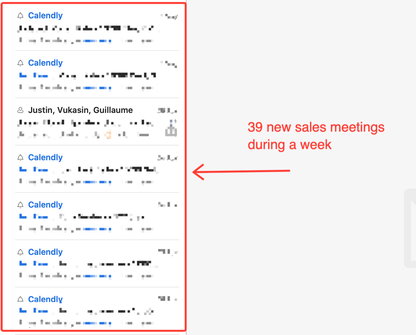 book sales calls from cold emails