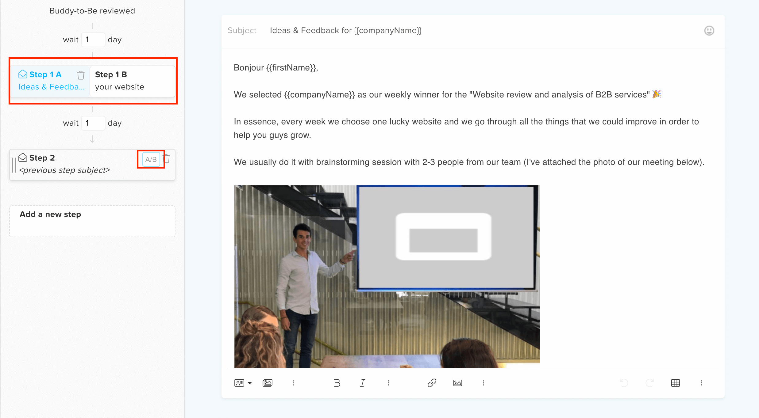 how to ab test cold email campaign