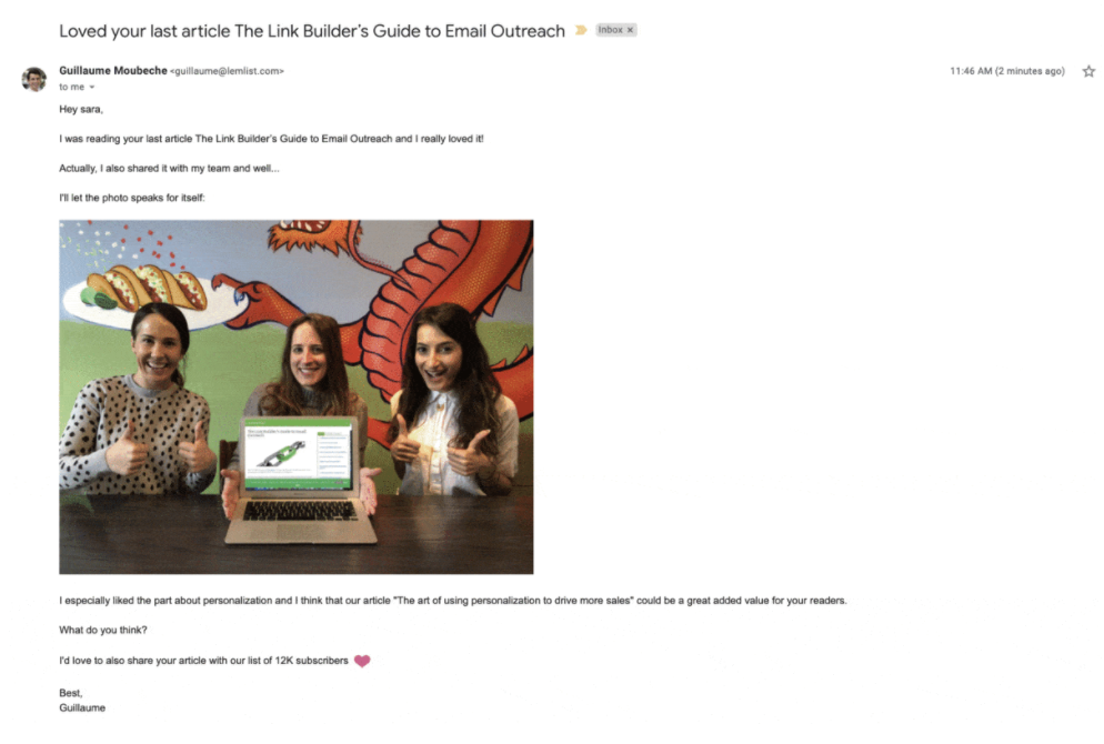 cold email pour ton buyer persona