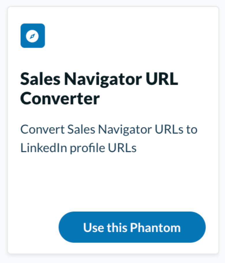 Use Phantombuster as your LinkedIn lead generation tool