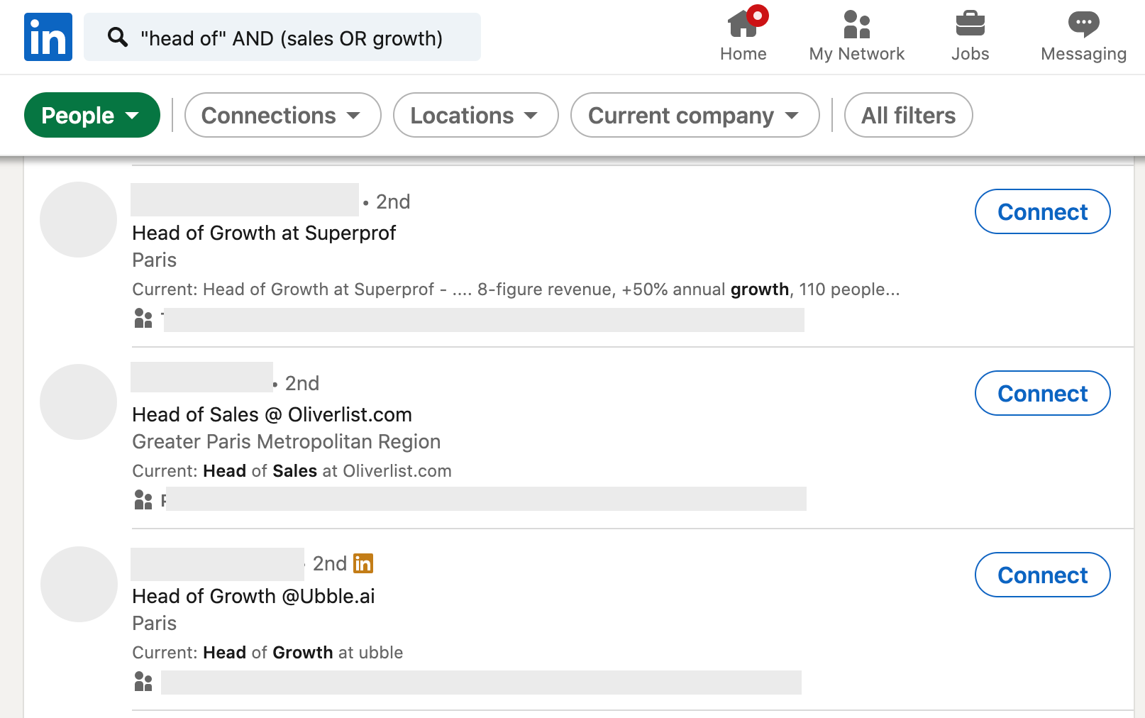 Generating leads on LinkedIn with filters
