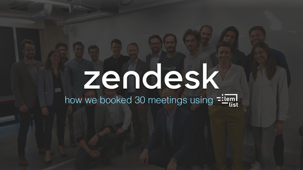 [Zendesk Story] Growing the pipeline with lemlist personalized landing page